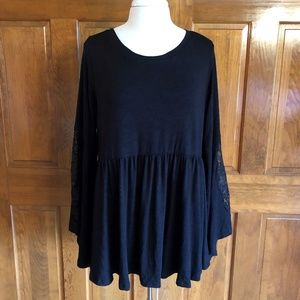 Torrid Black Super Soft Knits Tunic Top Size 2